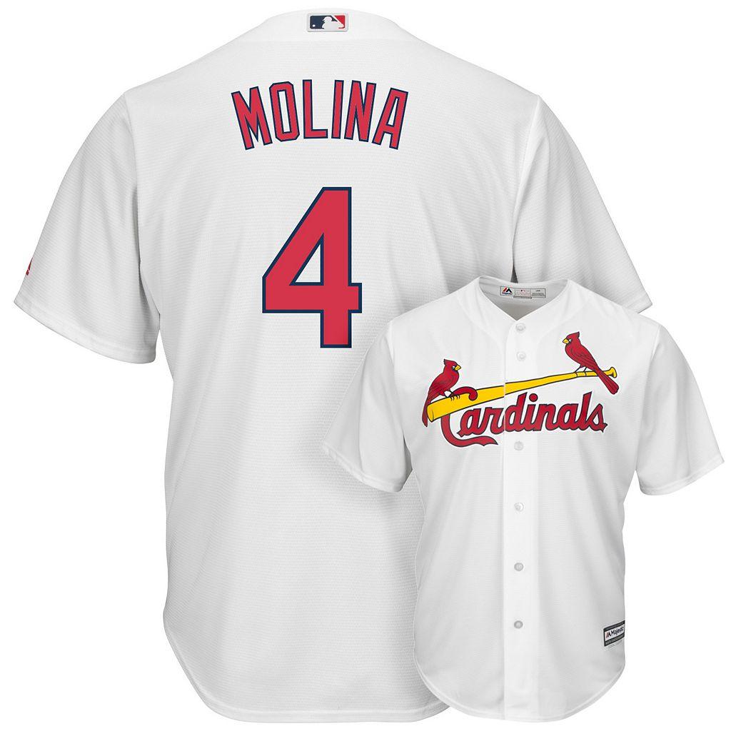 Men's Majestic St. Louis Cardinals Yadier Molina Cool Base Replica MLB Jersey