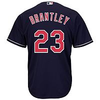 Men's Majestic Cleveland Indians Michael Brantley Cool Base Replica MLB Jersey