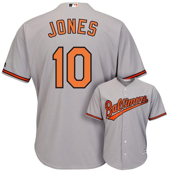 Men's Majestic Baltimore Orioles Adam Jones Cool Base Replica MLB Jersey