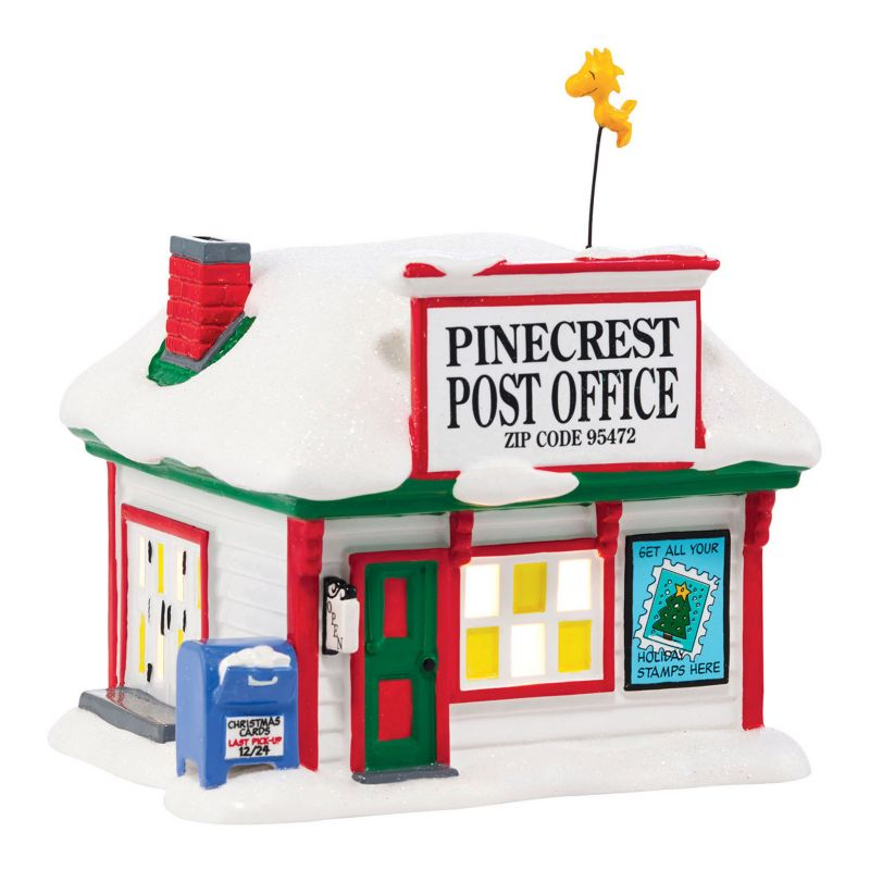 Department 56 Peanuts Pinecrest Post Office Christmas Decor