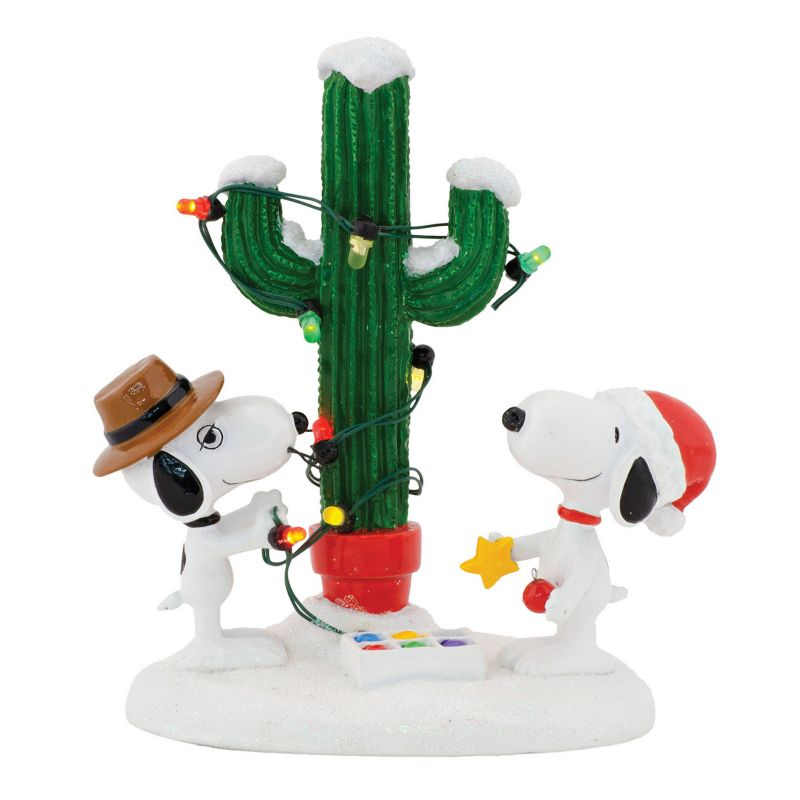 Department 56 Peanuts Spike and Snoopy's Christmas Decor, Multicolor, One Size