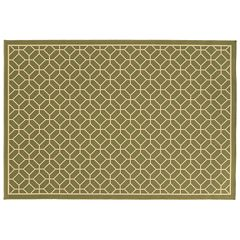 StyleHaven River Geometric Trellis Indoor Outdoor Rug