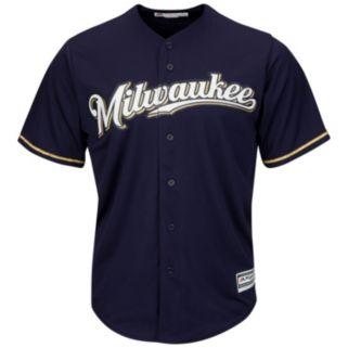 Men's Majestic Milwaukee Brewers Replica MLB Jersey