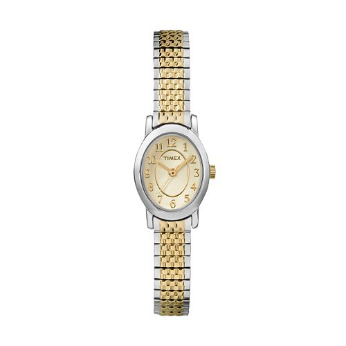 Timex women 39 s cavatina two tone stainless steel expansion watch tw2p60200jt for Watches kohls