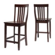 Crosley Furniture 2-piece School House Counter Stool Set
