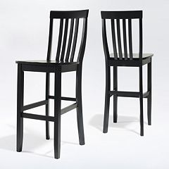 Crosley Furniture 2 pc School House Bar Stool Set