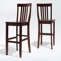 Crosley Furniture 2-piece School House Bar Stool Set