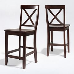 Crosley Furniture 2 pc X-Back Counter Chair Set