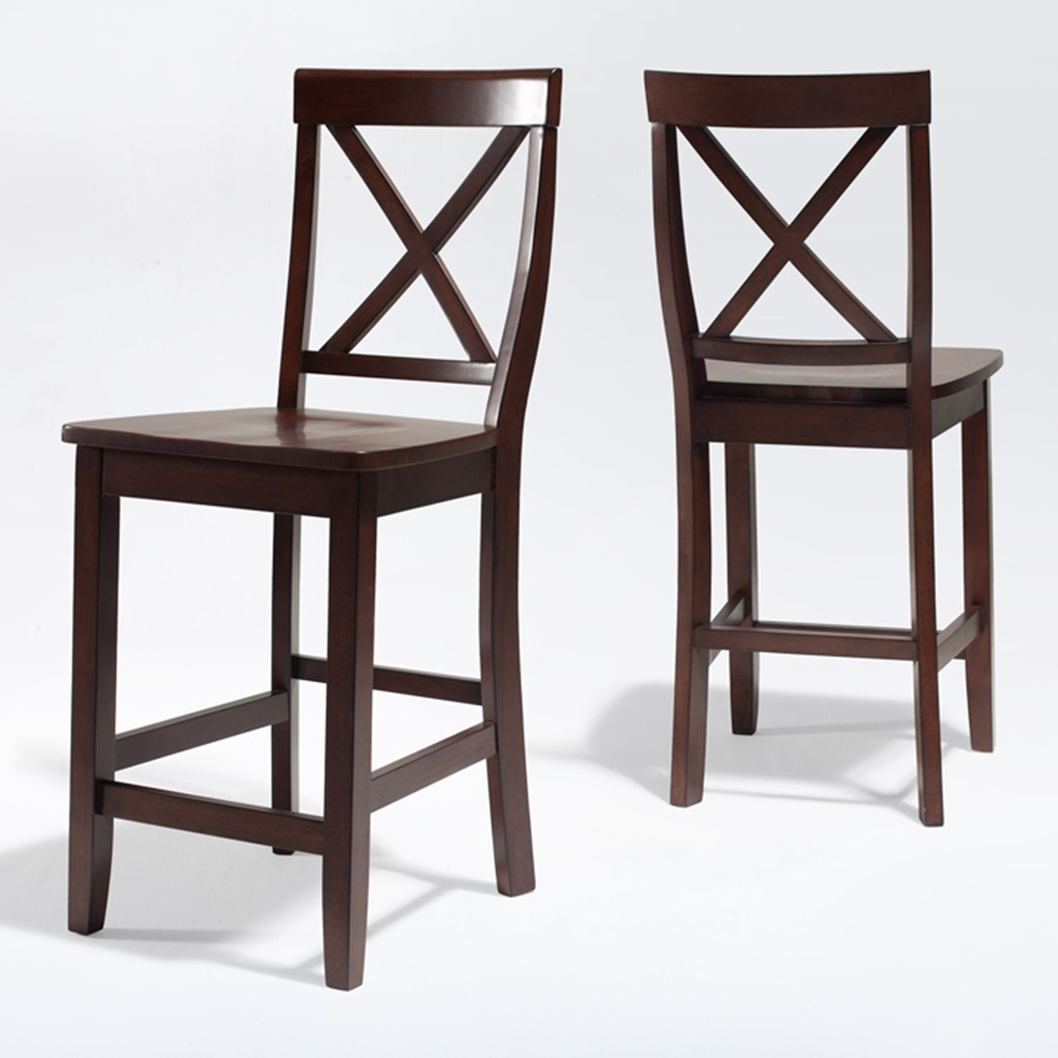 crosley furniture 2piece xback counter chair set