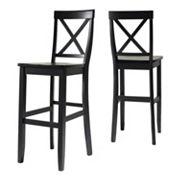 Crosley Furniture 2 pc X-Back Bar Chair Set