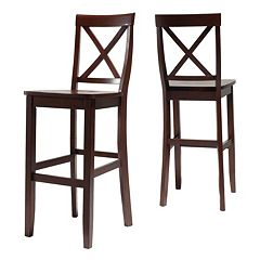 Crosley Furniture 2-piece X-Back Bar Chair Set