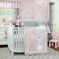 Lambs & Ivy Swan Lake 4 pc Crib Bedding Set