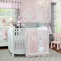 Lambs & Ivy Swan Lake 4-pc. Crib Bedding Set