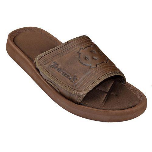 Adult North Carolina Tar Heels ... Memory Foam Slide Sandals oRR6KsEl