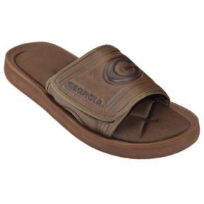 Adult Georgia Bulldogs Memory Foam Slide Sandals