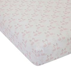Lambs & Ivy Swan Lake Crib Sheet