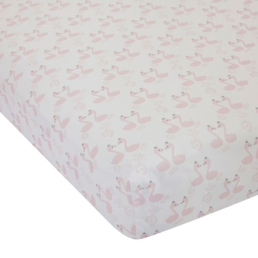 Lambs & Ivy Swan Lake Crib Sheet
