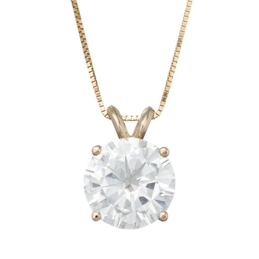 Forever Brilliant 3 1/10 Carat T.W. Lab-Created Moissanite 14k Gold Pendant Necklace