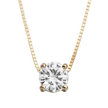 Forever Brilliant 1/2 Carat T.W. Lab-Created Moissanite 14k Gold Pendant Necklace