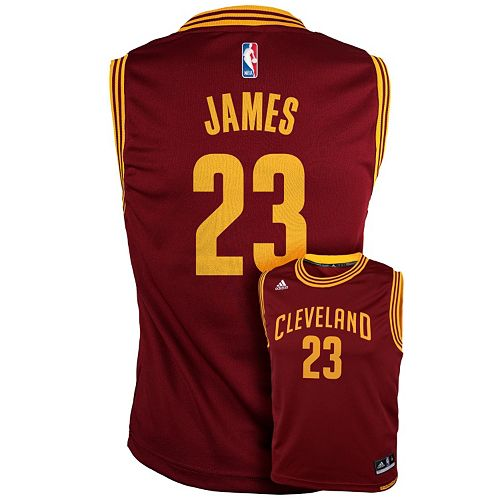 best sneakers 684d5 dbf67 Boys 8-20 adidas Cleveland Cavaliers LeBron James NBA ...