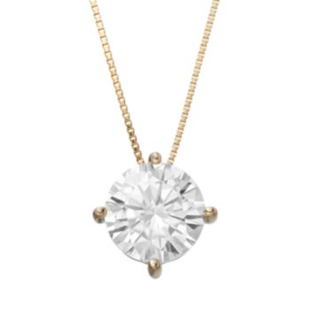Forever Brilliant 1 9/10 Carat T.W. Lab-Created Moissanite 14k Gold Pendant Necklace