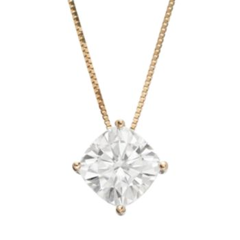 Forever Brilliant 3 1/3 Carat T.W. Lab-Created Moissanite 14k Gold Pendant Necklace