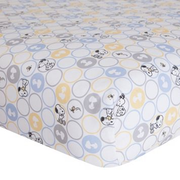 Peanuts My Little Snoopy Crib Sheet by Lambs & Ivy
