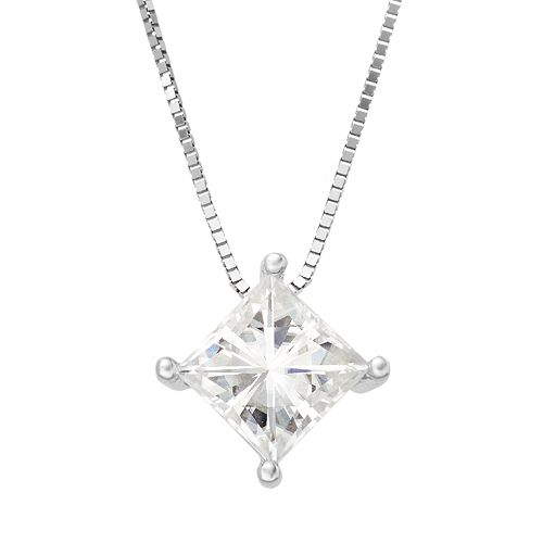 Forever Brilliant 1 Carat T.W. Lab-Created Moissanite 14k White Gold Pendant Necklace