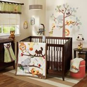 Lambs & Ivy Treetop Buddies 4 pc Crib Bedding Set