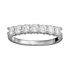 Forever Brilliant 3/4 Carat T.W. Lab-Created Moissanite 14k White Gold 7-Stone Ring