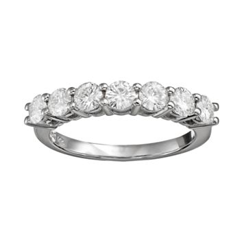 Forever Brilliant 1 1/10 Carat T.W. Lab-Created Moissanite 14k White Gold 7-Stone Ring