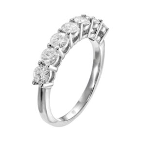 Forever Brilliant 1 1/10 Carat T.W. Lab-Created Moissanite 14k White Gold 7-Stone Ring