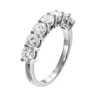 Forever Brilliant 1 5/8 Carat T.W. Lab-Created Moissanite 14k White Gold 7-Stone Ring