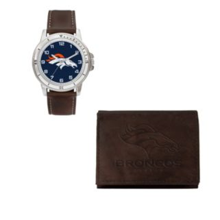 Denver Broncos Watch & Trifold Wallet Gift Set