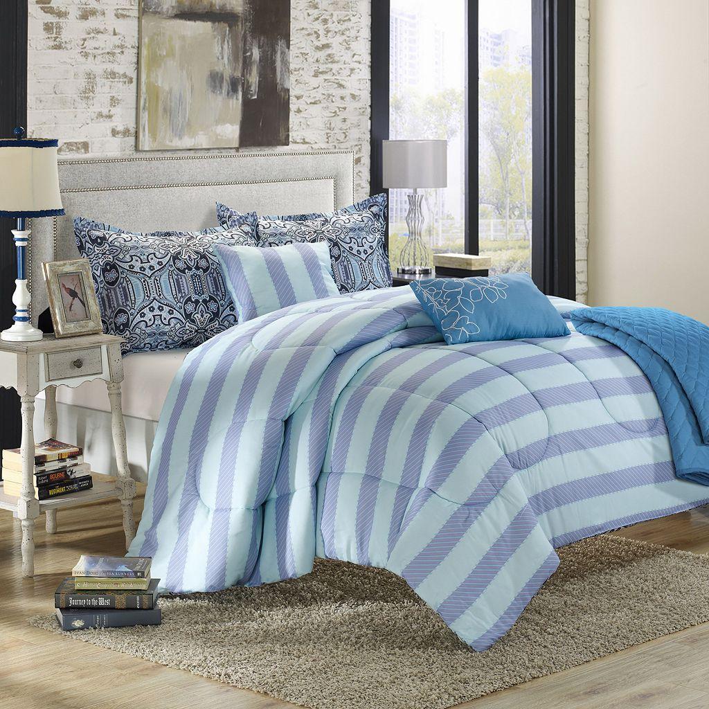 Lynwood 6-pc. Luxury Reversible Comforter and Quilt Set