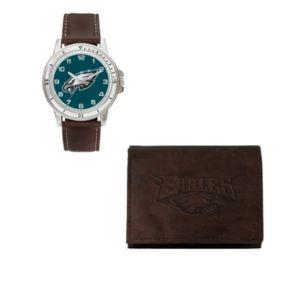 Philadelphia Eagles Watch & Trifold Wallet Gift Set
