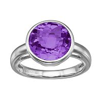Amethyst Sterling Silver Ring