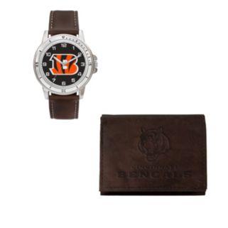 Cincinnati Bengals Watch & Trifold Wallet Gift Set