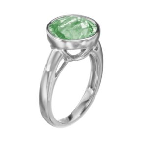 Green Quartz Sterling Silver Ring