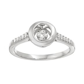 Brilliance in Motion 1/5 Carat T.W. Diamond Sterling Silver Circle Ring