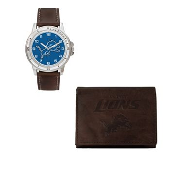 Detroit Lions Watch & Trifold Wallet Gift Set