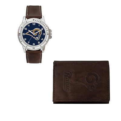 Los Angeles Rams Watch & Trifold Wallet Gift Set