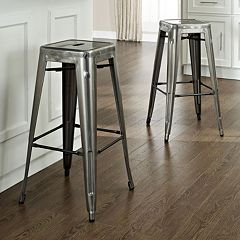 Crosley Furniture 2 pc Amelia Cafe Bar Stool Set