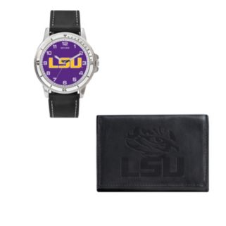LSU Tigers Watch & Trifold Wallet Gift Set