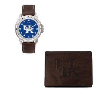Kentucky Wildcats Watch & Trifold Wallet Gift Set