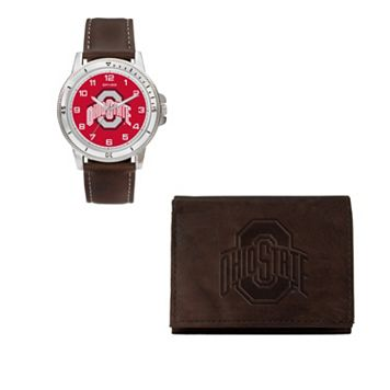 Ohio State Buckeyes Watch & Trifold Wallet Gift Set