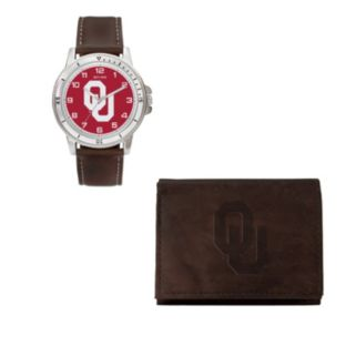 Oklahoma Sooners Watch & Trifold Wallet Gift Set