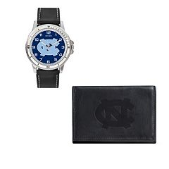 North Carolina Tar Heels Watch & Trifold Wallet Gift Set