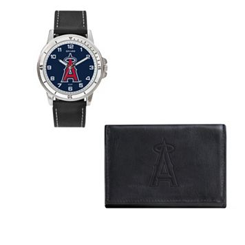 Los Angeles Angels of Anaheim Watch & Trifold Wallet Gift Set