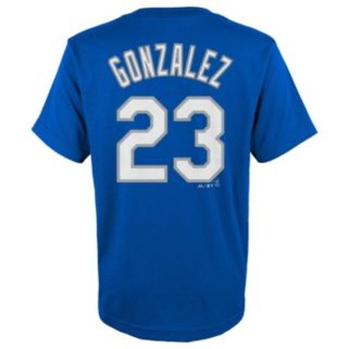 Boys 8-20 Majestic Los Angeles Dodgers Adrian Gonzalez Player Name and Number Tee